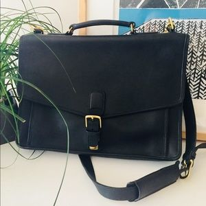 Classic coach black leather briefcase